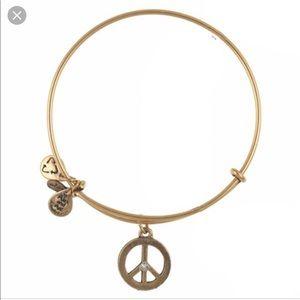 Alex and Ani Peace Sign Charm Bracelet